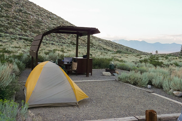 Saturday, August 1.  I spent the night before going in at the McGee Creek Campground, site 13.