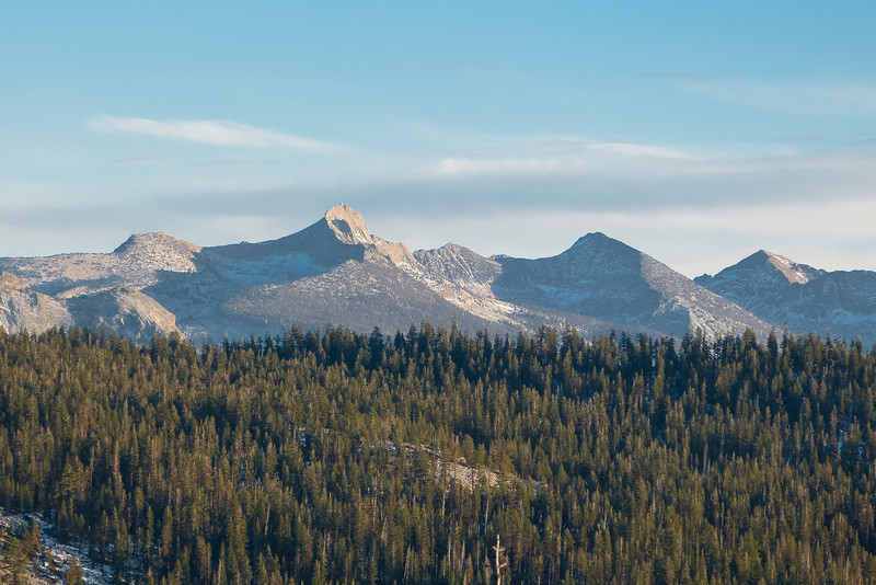 Mt. Clark from a turn out west of Yosemite Creek.