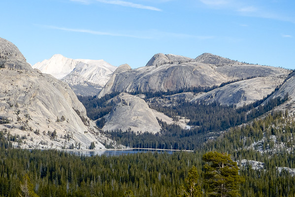 Thursday, December 8.  The Tioga Pass Road reopened (the afternoon before!) so my first stop was Olmstead Point.  Tenaya Lake view.