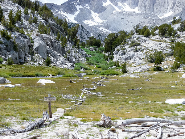 The old trail to Ruby Lake is now closed.