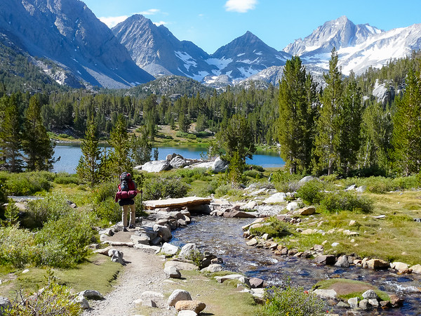 Friday, August 26.   We headed first into the Little Lakes Valley.