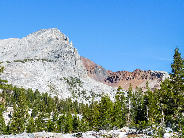Crater Peak and the slate on its flanks.