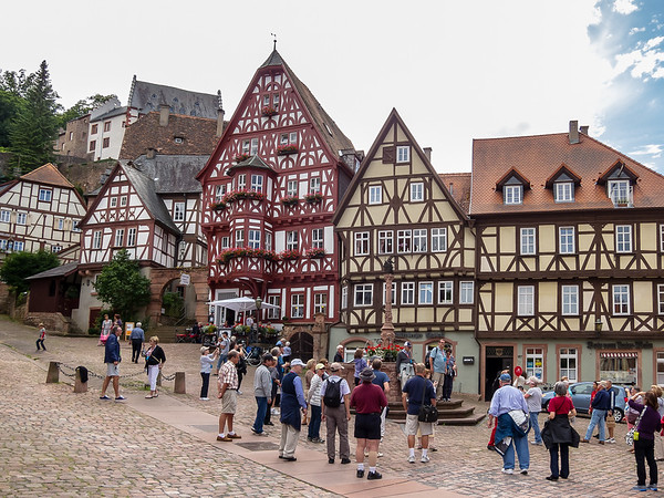 The Market Square (Schnatterloch) in Miltenberg.  Everybody takes this picture: check the web!