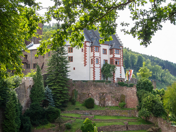 Castle Mildenberg, seen from the overlook.  We heard music -- a 17th century brass fanfare -- coming from here.  The tower is just behind.