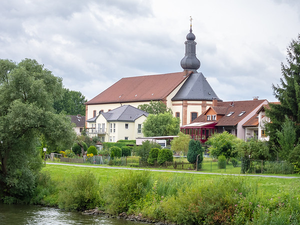 Plus some small towns, like this one, Großwallstadt, with views of people's gardens.
