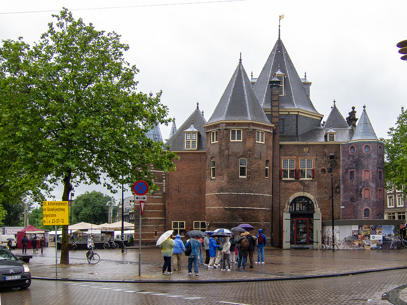 De Waag or The Weigh House at Niewmarkt.  Before 1601,it was one of the main gates in the city wall.