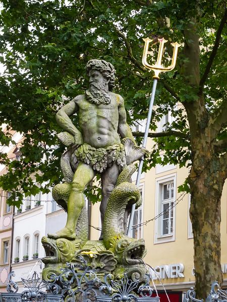 "The Neptune statute at the Grüner Markt in Bamberg is locally known as Gabelmann ('Fork man"")."