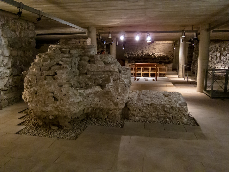"""The basement of Groß St. Martin has Roman ruins.  Cologne was Colonia Agrippina, """"the Colony of Agrippina"""", founded AD50."""