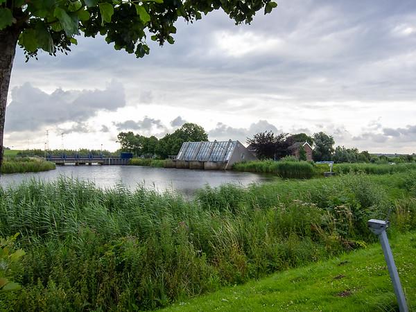 Kinderdijk.  The pumphouse for the electric pumps.