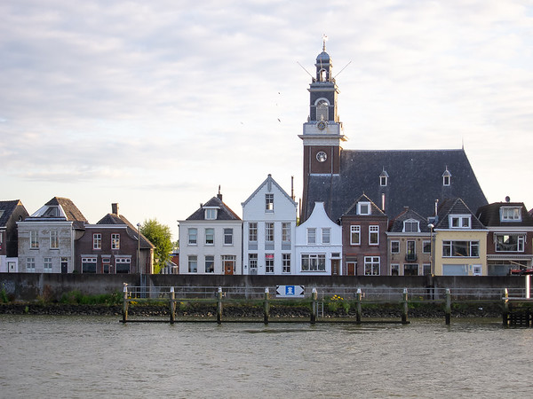 The buildings in the river town of Lekkerkerk have some of the same feel of Amsterdam -- but smaller.