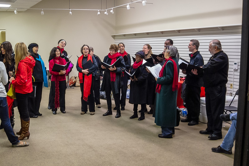 JLS Tree Lighting 11/30 - Afterwards, TOSCA ran though some other pieces in the warmup room.