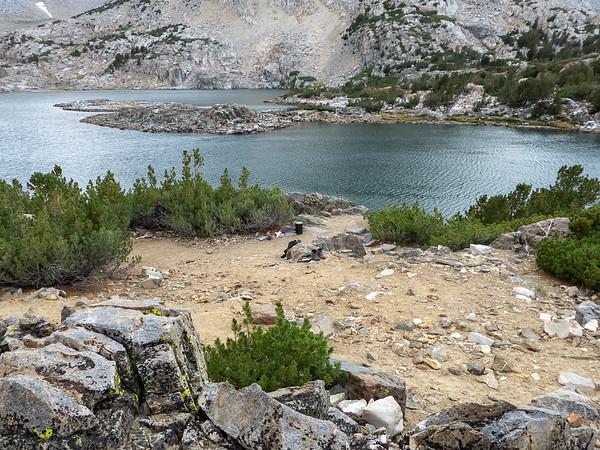 My campsite at Saddlerock Lake.