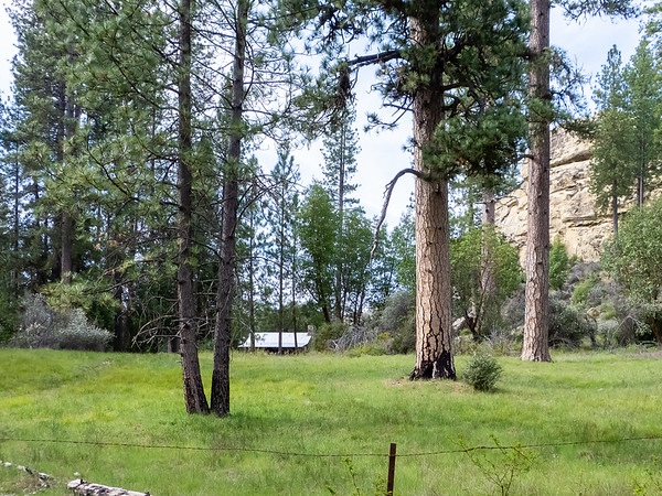 A first view of Pine Valley: Jack English's cabin and more sandstone walls.