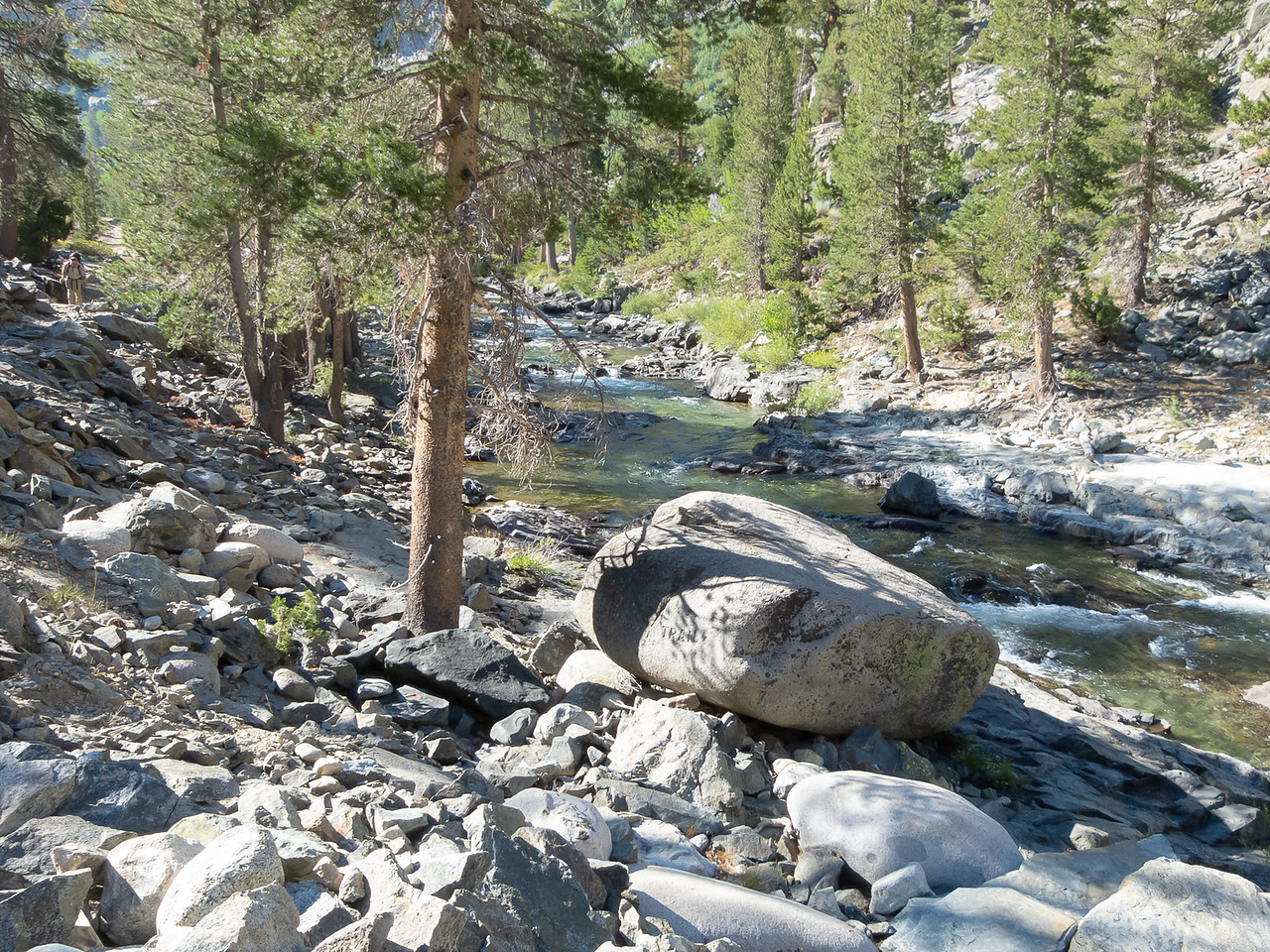 Sunday, August 11.  Back to the Muir Trail Rock.