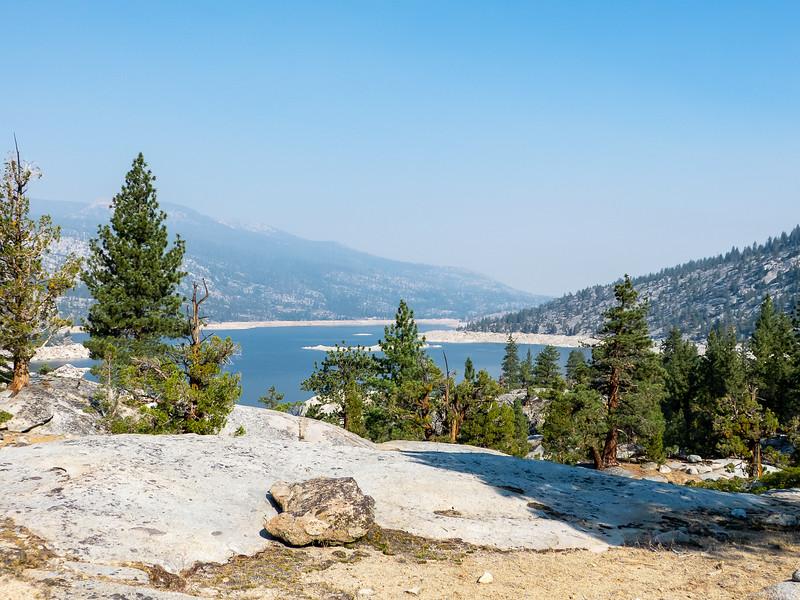 Florence Lake.  Haze.  Bathtub ring.