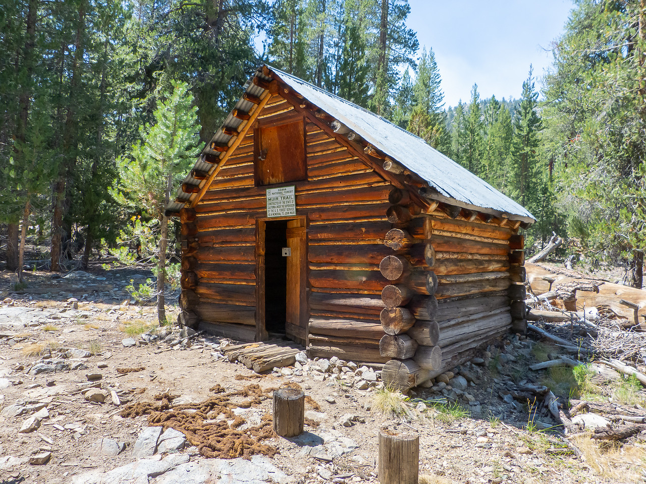The Muir Trail Cabin.  It's on the John Muir Trail, about 1 mile north of the Piute Creek Bridge.