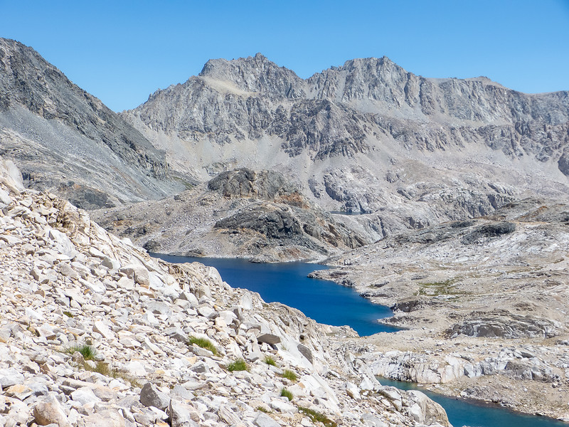 Looking south from near Muir Pass: Helen Lake.