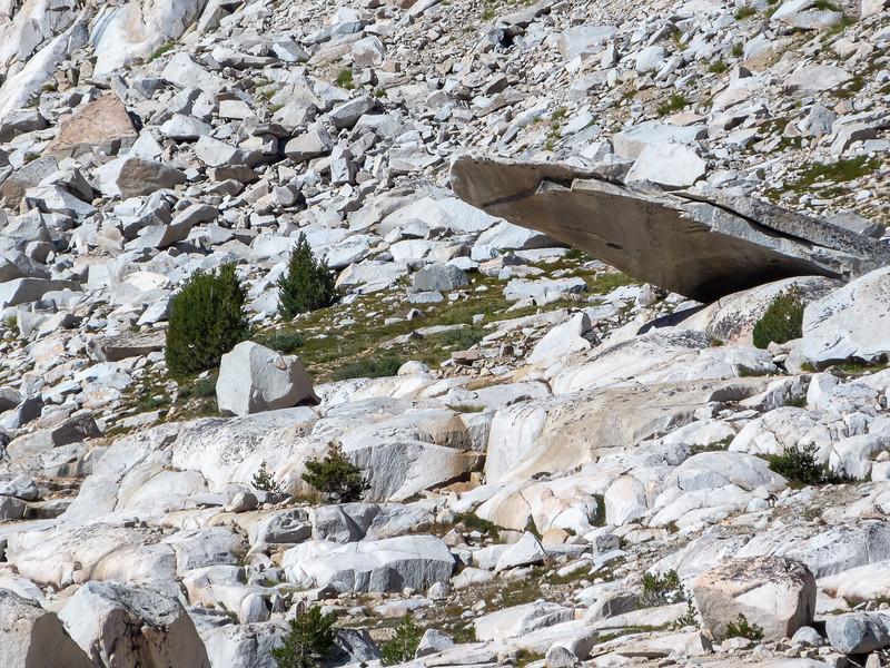 Interesting slab up by Sapphire Lake.