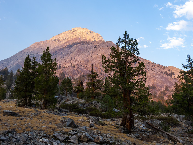 Alpenglow -- assisted by just a little smoke that wandered in -- on Pavillion Dome.