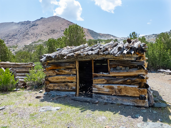 The best preserved of the cabins.