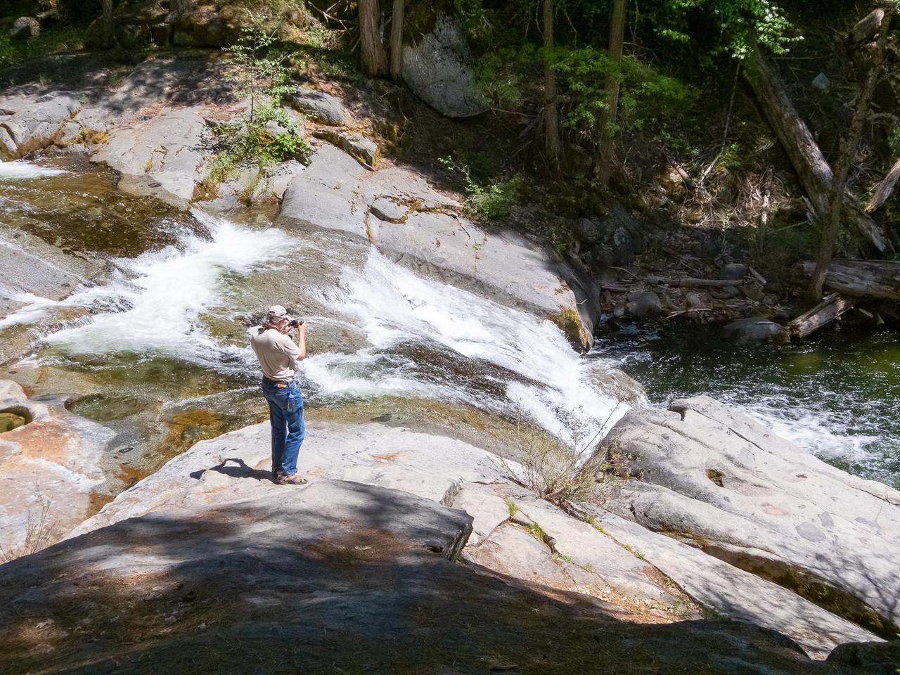 Carlon Falls - Alex on the brink of the lower falls.