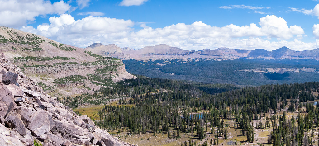 The expansive view across the Rock Creek drainage.  Looking left.