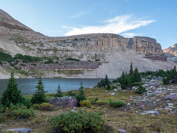 A little evening stroll: Margie Lake was not far above camp.