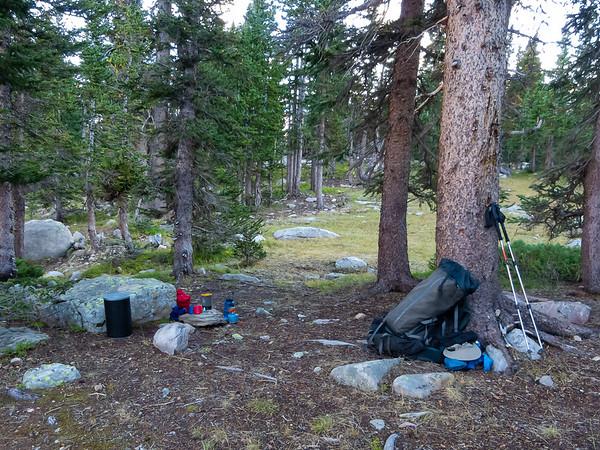 My Rosalie Lake campsite.