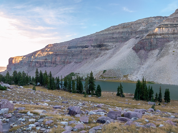 And Uinta Lake was only another 10 minutes, mostly across meadow.
