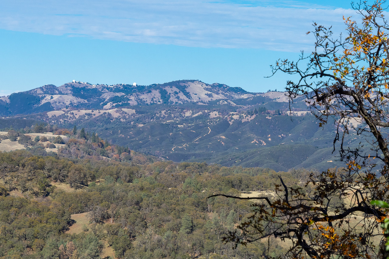 View to Mt. Hamilton and the Lick Observatory.
