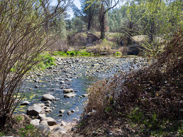 The Cache Creek crossing at Baton Flat.  Just a rock hop today.