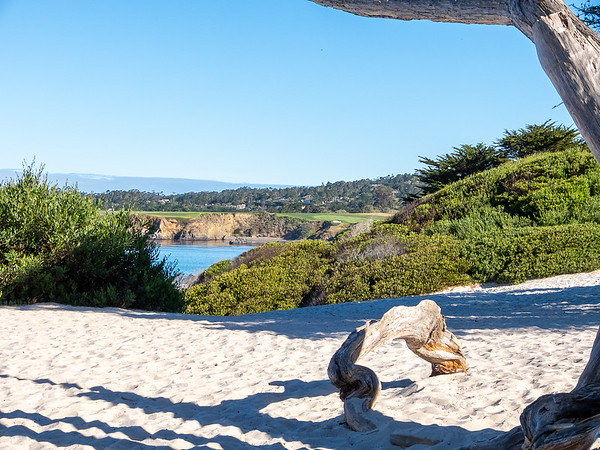 A wider view of Pebble Beach.