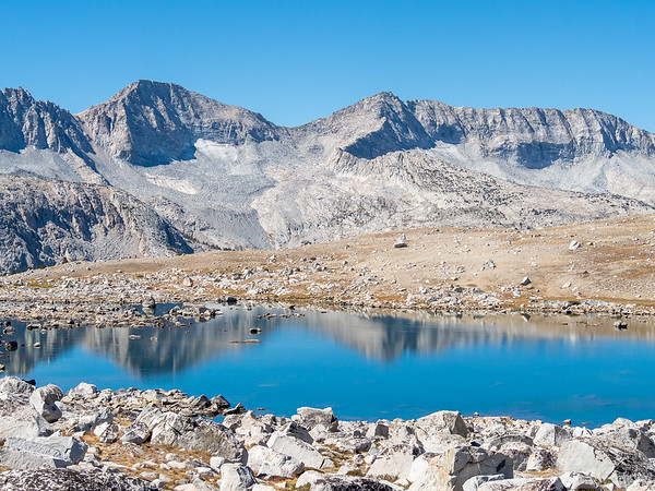 Lower Desolation Lake with the Glacier Divide behind.