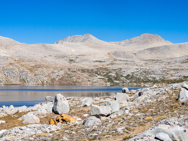 One of our first view of Desolation Lake.  It's, well, desolate.