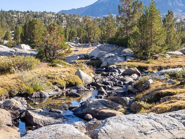 Wednesday, September 10.  The stream below our Lower Golden Trout area camp.