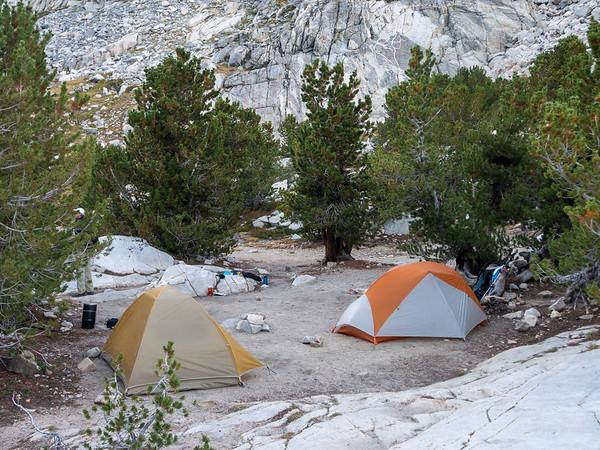 Camp at Piute Lake.