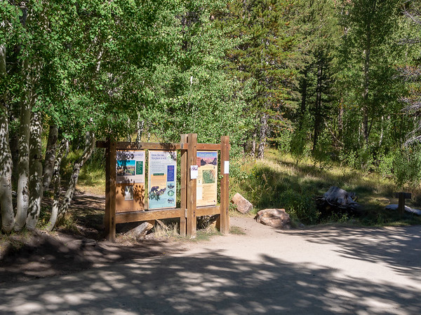 The Piute Pass / Lamarck Lakes Trailhead.