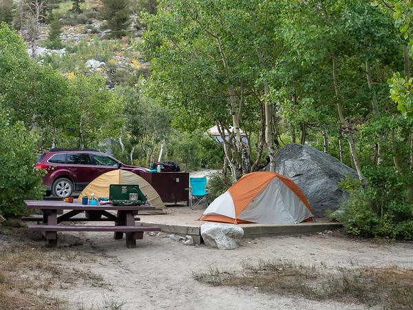 Friday, September 5.  Alex and I spent the first night at the Sabrina Campground.