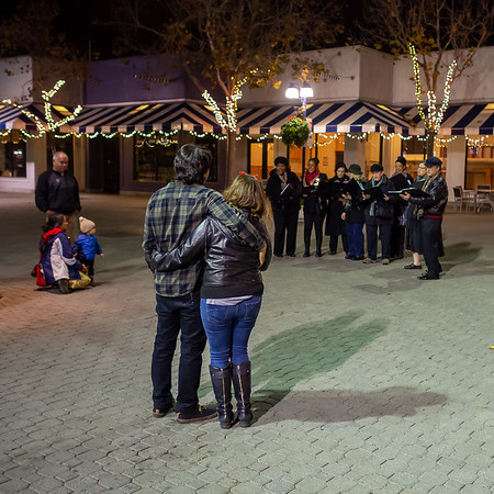Jack London Square, December 8 -- This couple really got into The Jingle Bell Rock ...
