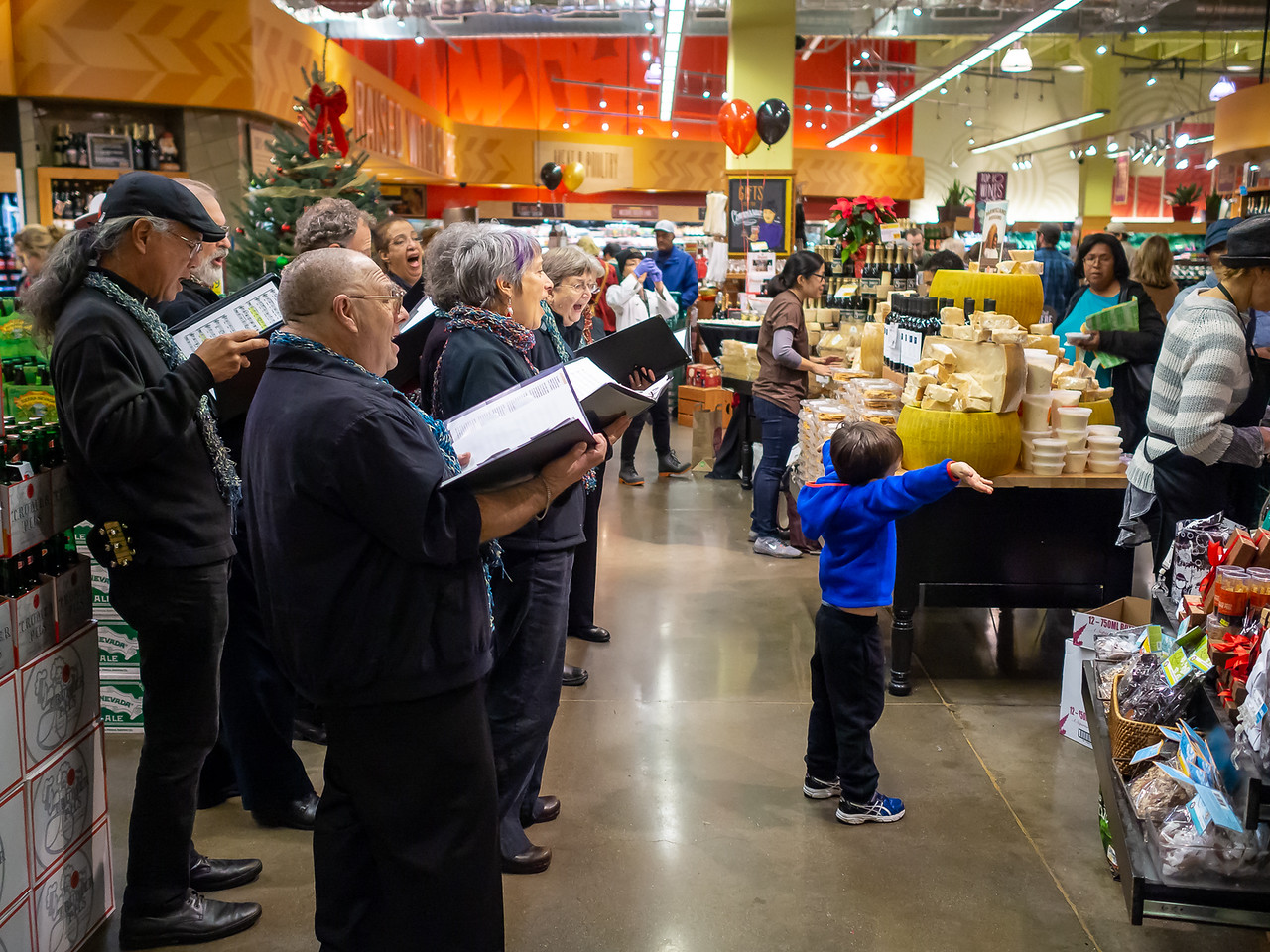 Whole Foods, December 13.  The very last piece of the day featured a guest conductor.