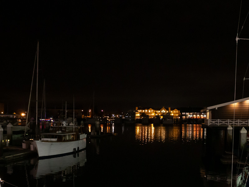 Jack London Square, December 8 -- Part of the fun of being out at Jack London Square is looking over the waterfront.