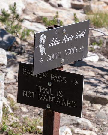 Yup, from the Baxter Lakes down, that trail was definitely in the not-maintained category.