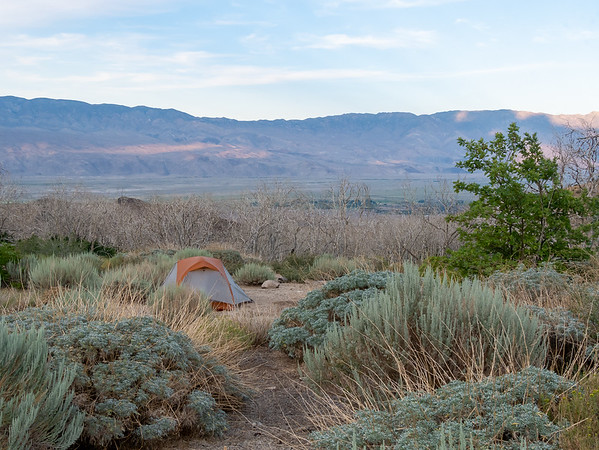 I made camp nearby with a nice view across the Owens Valley.