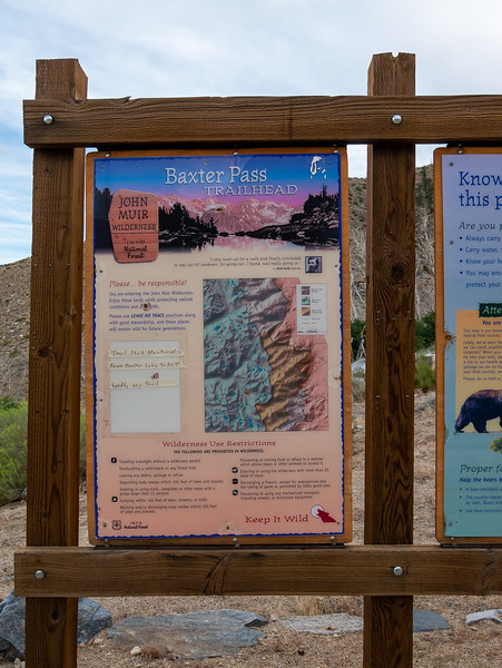 """A 15 minute drive put me at the Baxter Pass Trailhead.  That note, """"Trail Not Maintained from Baxter Lake to PCT ...  hardly any trail"""", was not new news, but I was still surprised to see it posted."""