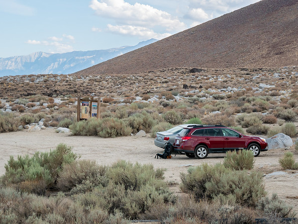 Only one other car at the Sawmill Pass Trailhead.  It's kind of a forlorn spot.