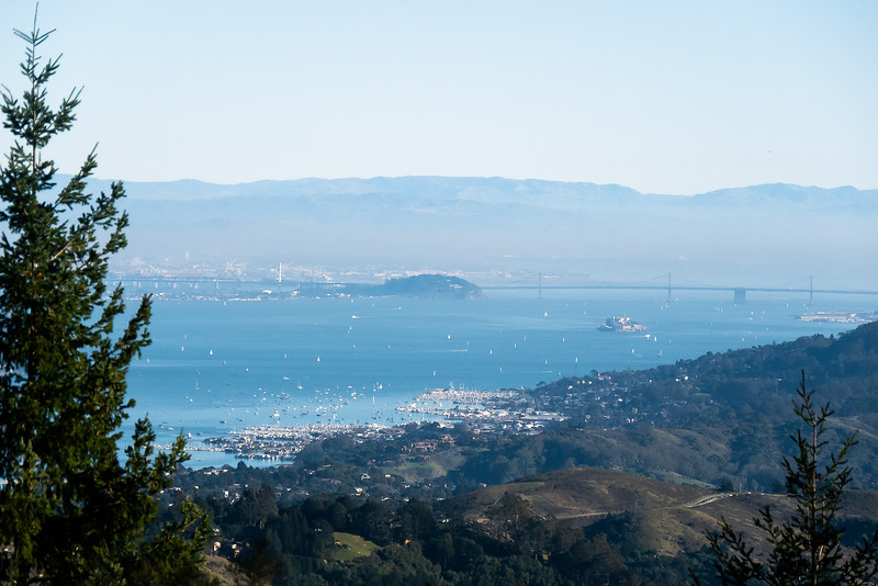 If the mountain was full of hikers and bicyclists, the bay was full of boaters.