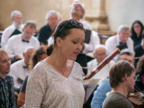 Our soloists.  Soprano Michaela Srumova.