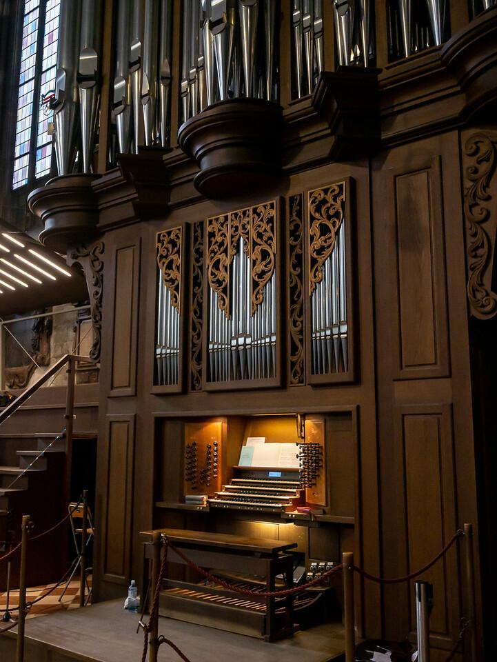 It's a wonderful organ console.