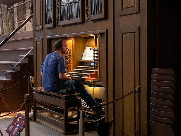 One more player in all this: our organist.