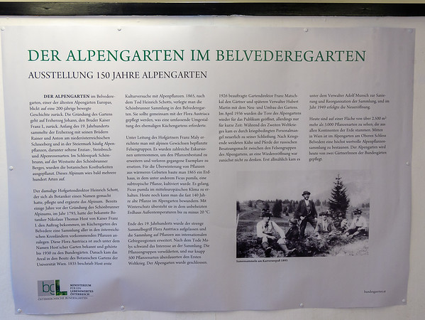 Exhibition of the 150 year alpine garden.  This just says it is one of the oldest alpine gardens in Europe.  The website is not so modest.